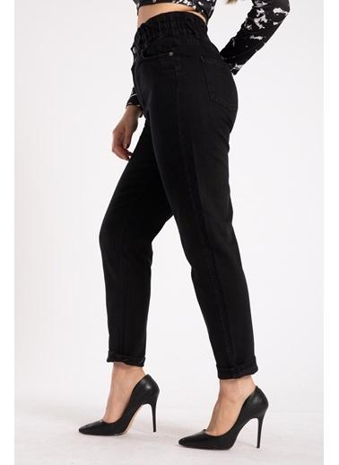 Madame Sare  Kadın Siyah Mom Jean Pantolon Siyah